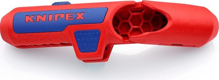 Инструмент для снятия изоляции Knipex, KN-169501SB, красный, синий