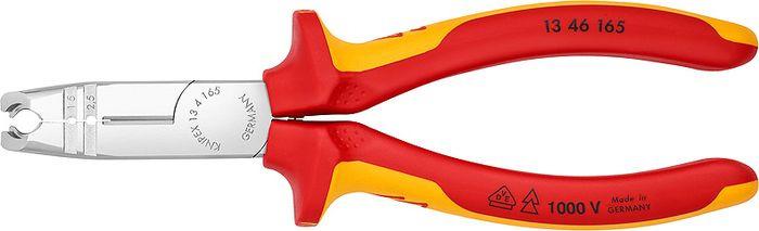 Клещи Knipex VDE, для удаления оболочки, KN-1346165, желтый, красный, 165 мм