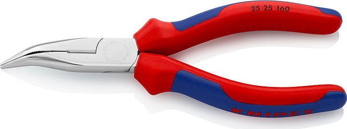 Длинногубцы Knipex, с резцом, KN-2525160, красный, синий, 160 мм бокорезы knipex kn 1426160