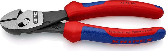 Бокорезы Knipex TwinForce, высокой мощности, KN-7372180, красный, синий, 160 мм бокорезы knipex kn 1426160