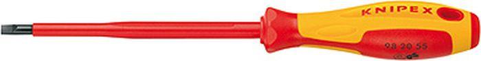 цена на Отвертка ручная Knipex, для винтов с шлицевой головкой, KN-982025, желтый, красный