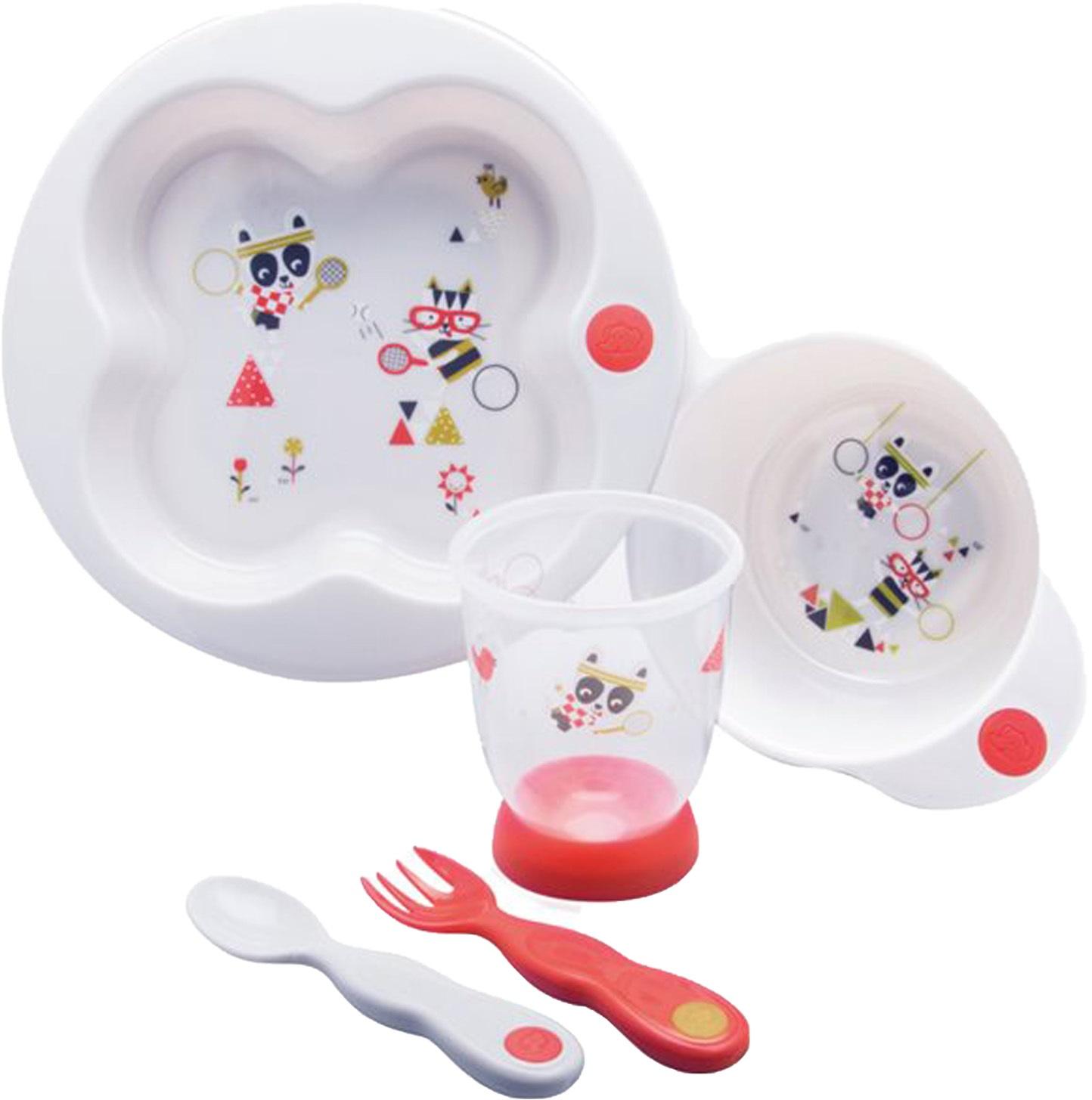 Набор для введения прикорма Bebe Confort Sport, красный набор из трех зубных щеток bebe confort 0 36 месяцев