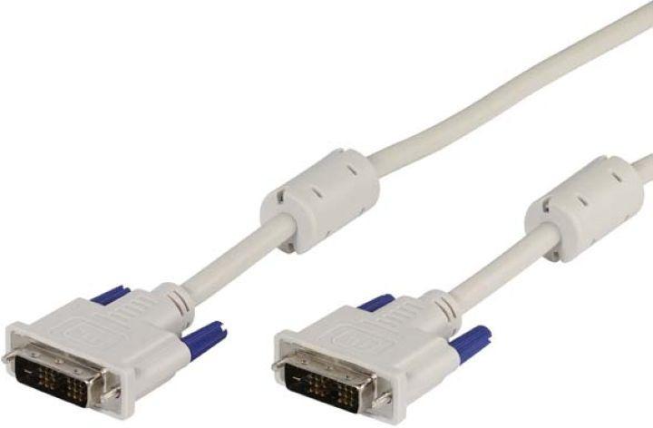 Кабель Vivanco CC M 18 DDDS, для монитора, DVI/D, 1,8 м, белый кабель vivanco cc m 18 dddd dvi dvi 1 8 м белый