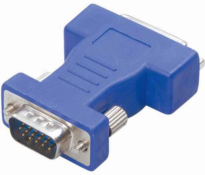Адаптер Vivanco СА M 1, DVI/15 pin, синий кабель vivanco cc m 18 dddd dvi dvi 1 8 м белый