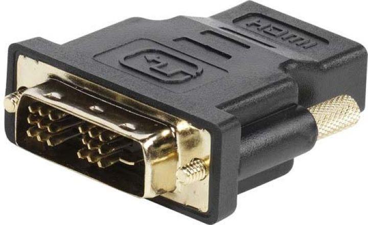 Адаптер Vivanco CA M 6, DVI-D/HDMI, черный vivanco адаптер f штырь f штырь 2 шт