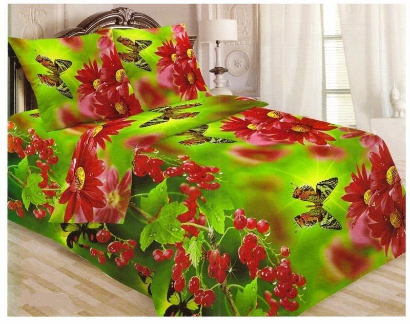 Комплект постельного белья Витэлия 2,0сп Смородина бязь 3D