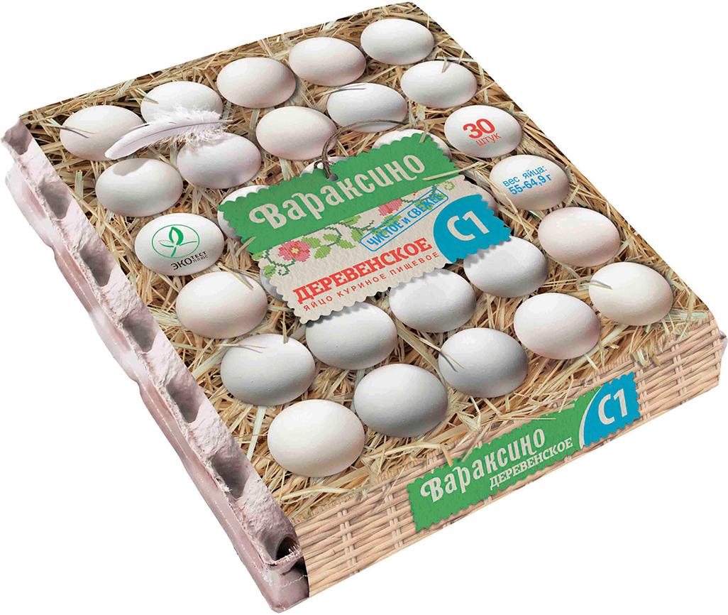 Яйца куриные Вараксино, С1, деревенские, 30 шт