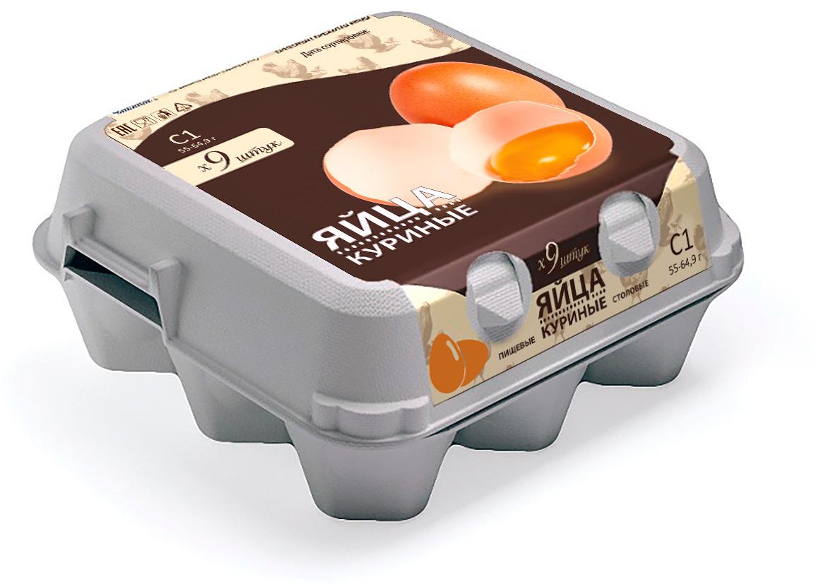 Яйца куриные Праксис, С1, 9 шт Праксис