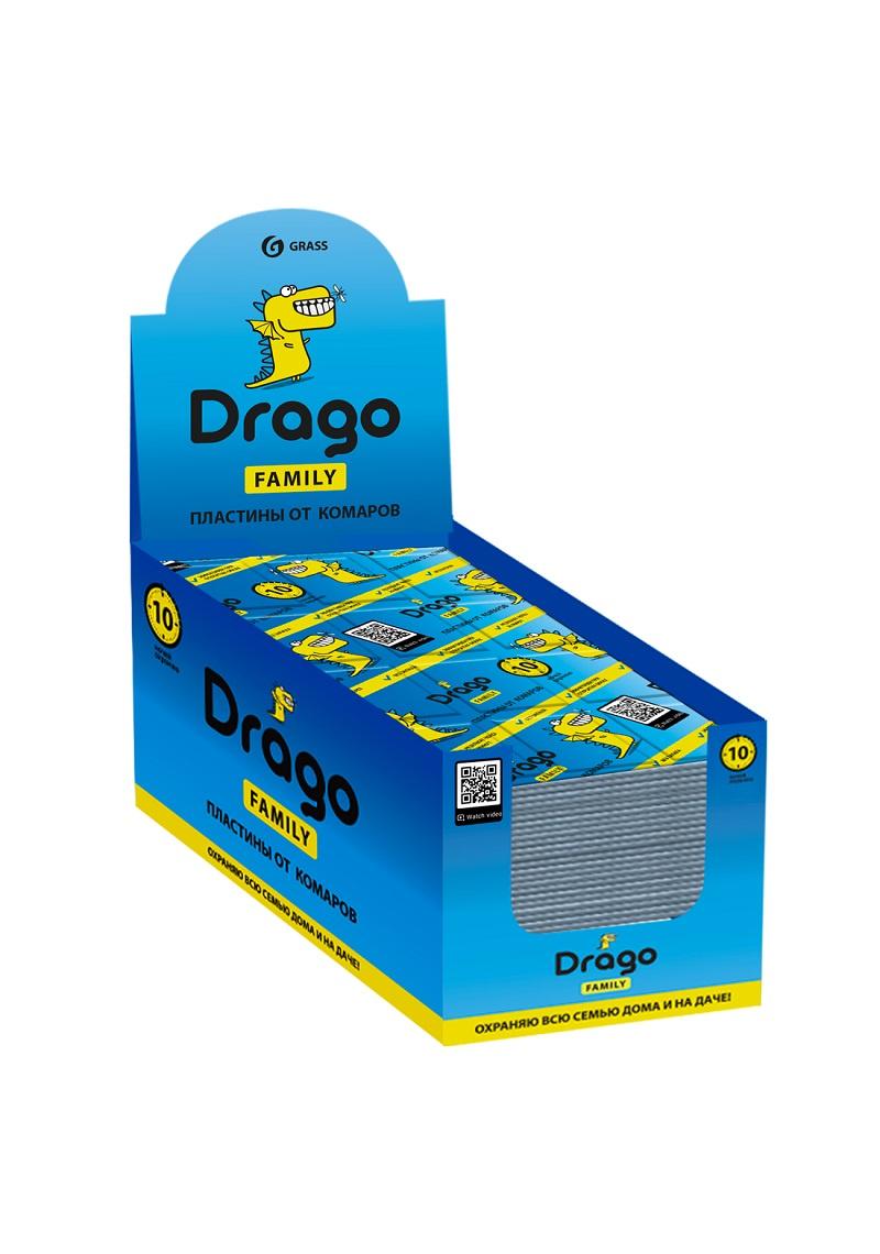 Пластина для фумигатора GraSS Drago 10шт рейд электрофумигатор пластины от комаров 10шт