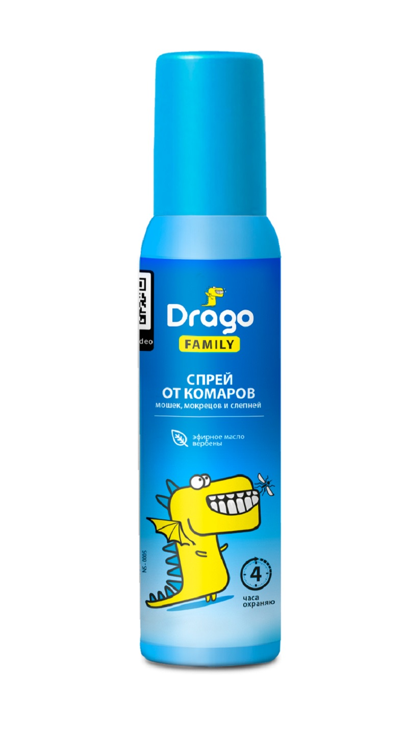 Средство от насекомых GraSS Drago FAMILY 100м от насекомых спрей