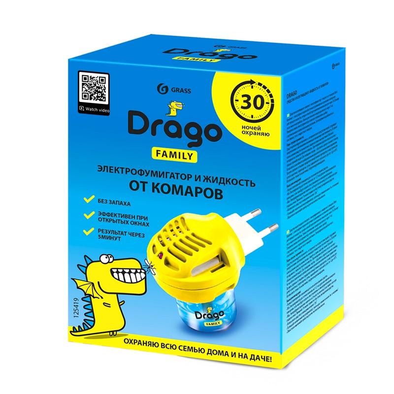 Средство от насекомых GraSS Drago 30мл рейд электрофумигатор пластины от комаров 10шт