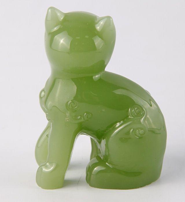 Статуэтка Кошка из серии The Curio Cabinet Cats Collection. Оникс. The Franklin Mint, США, конец XX века. статуэтка из нефрита