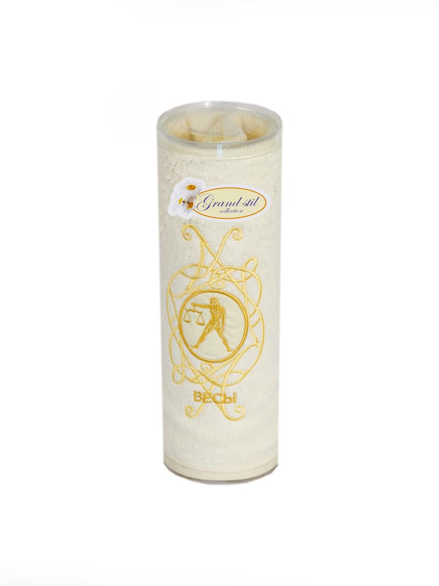 Полотенце для лица, рук или ног Grand Stil Знаки Зодиака Весы , размер 45*90, светло-бежевый wight angel весы знаки зодиака