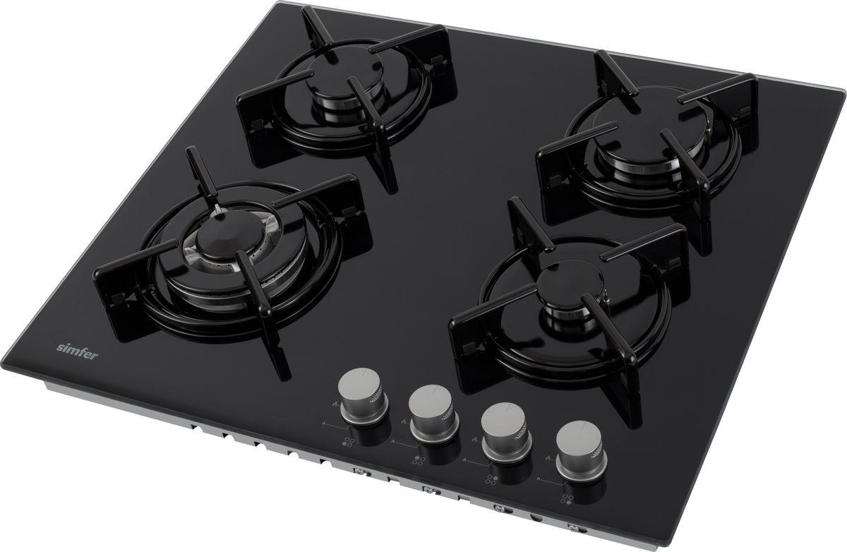 Варочная панель Simfer H60N41B525, черный Безопасная эксплуатация поверхности обеспечивается наличием функции...