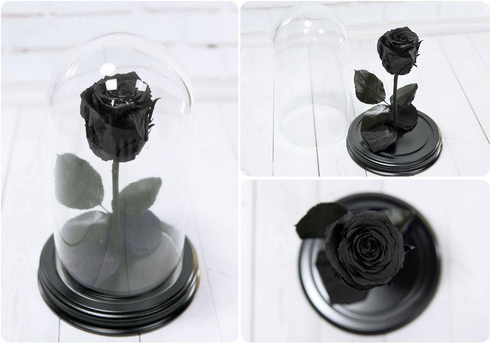 Сувенирный набор Роза в колбе № 2 Черный ароматерапия запах розы