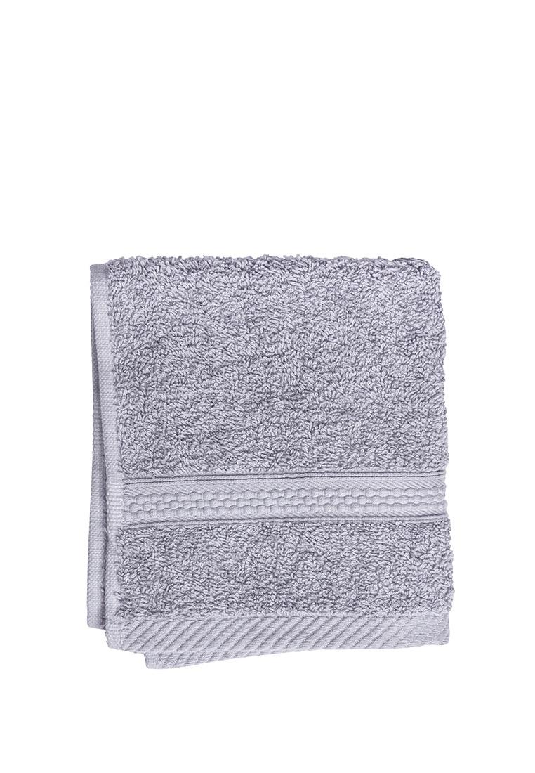 Полотенце для лица, рук или ног Arya home collection Miranda Soft, серый полотенце для рук из жаккардовой махровой ткани lima