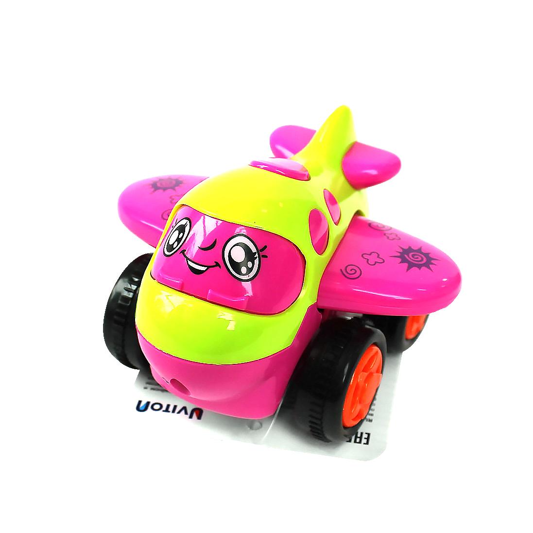 Самолет UVITON Инерционная игрушка Plane розовый самолет самолетик розовый