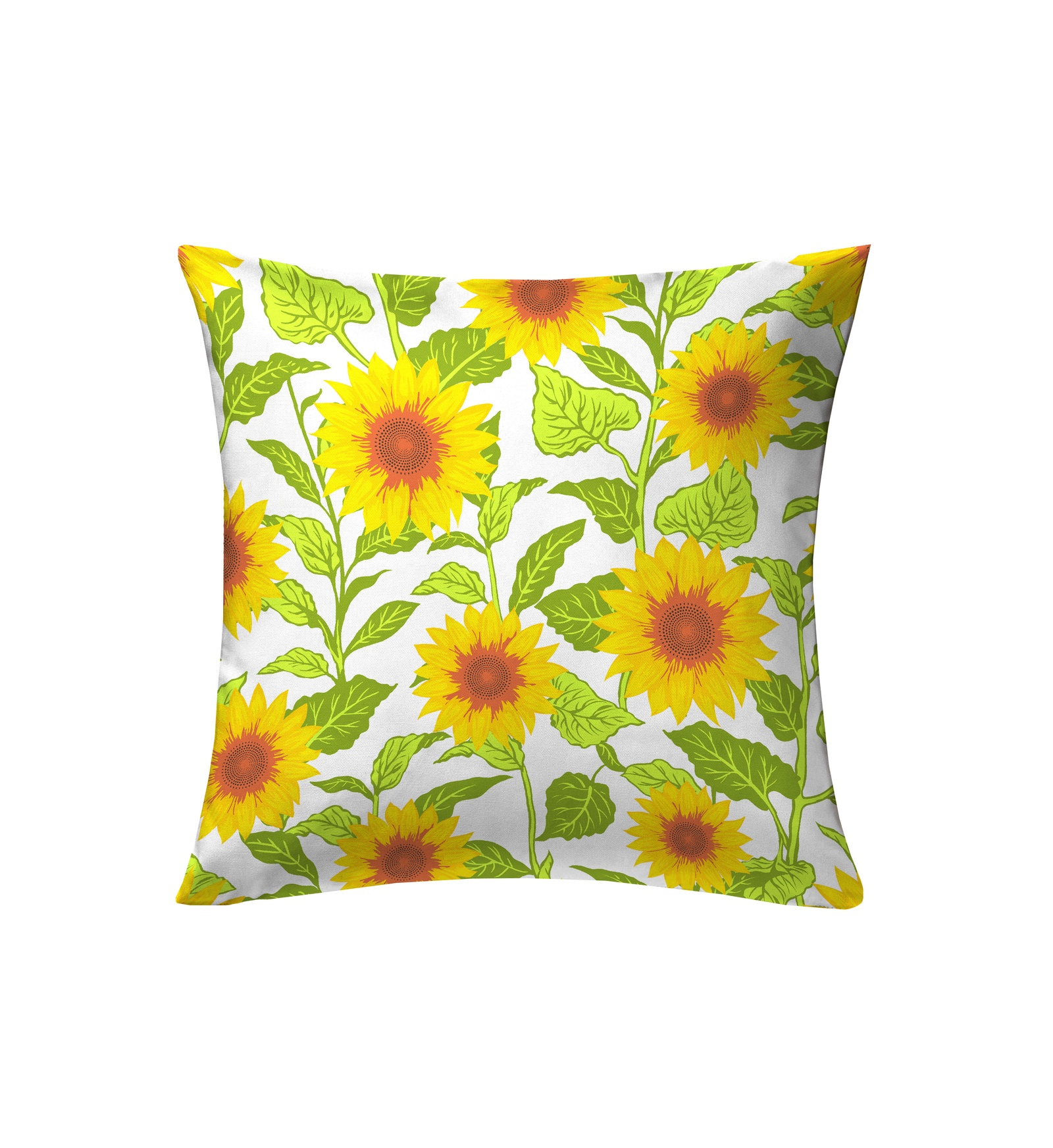 Подушка декоративная Bonita Солнечные подсолнухи, желтый, зеленый покрывало яркие подсолнухи сирень покрывало яркие подсолнухи