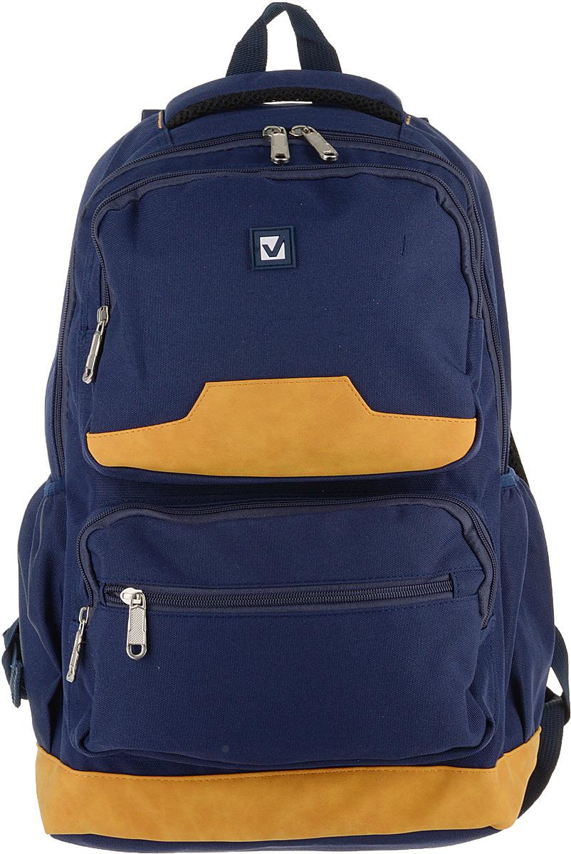 Рюкзак детский Brauberg Бронкс, 226349, синий, оранжевый brauberg brauberg рюкзак для старшеклассников и студентов бронкс синий желтый