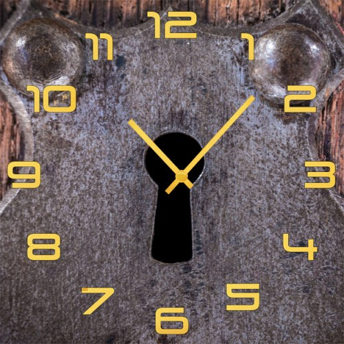 Настенные часы Kitch Clock 4001882 для туалета замок дверной нора 1м