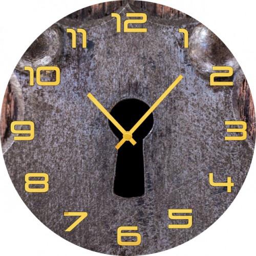 Настенные часы Kitch Clock 4001883 для туалета замок дверной нора 1м