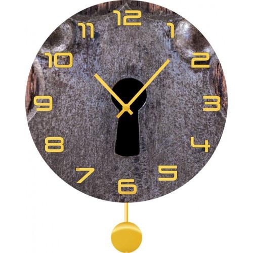 Настенные часы Kitch Clock 3011883 для туалета замок дверной нора 1м