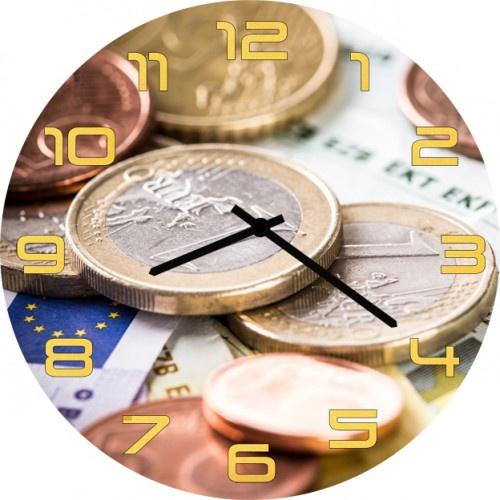 Настенные часы Kitch Clock 35019193501919Настенные часы. Модель для современного интерьера. Механизм: Кварцевый. Корпус: Дерево. Размер: Диаметр 35 см. Рисунок: Евровалюта
