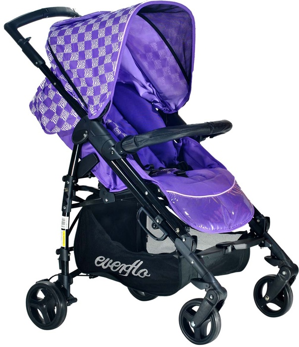 Коляска прогулочная Everflo PP-07 C Purple сиреневый все цены