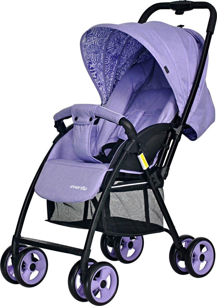 Коляска прогулочная Everflo Letter purple E-501 бордовый прогулочная коляска everflo letter purple