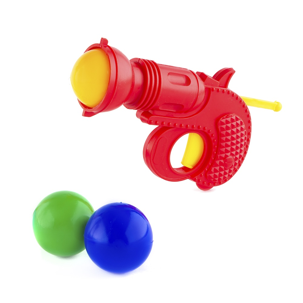 Пистолет игрушечный Пластмастер 56007 красный игровой набор пластмастер 2 пистолета с шарами