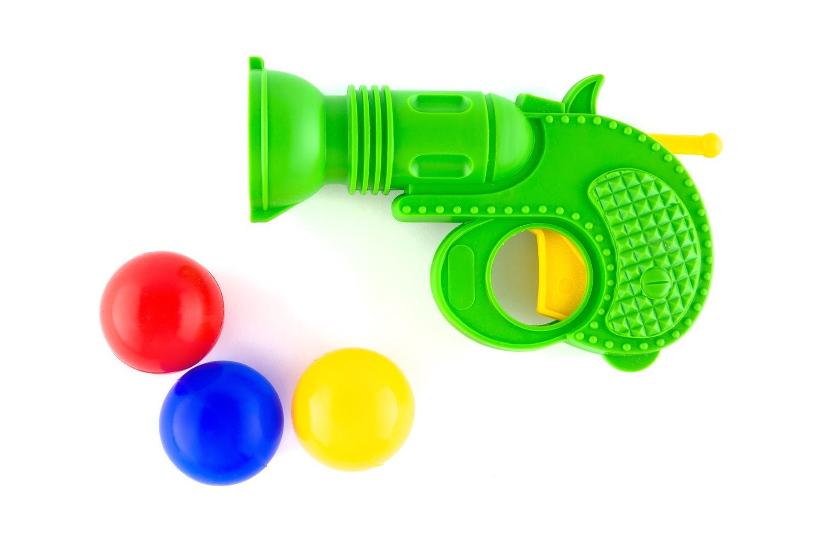 Пистолет игрушечный Пластмастер 56008 зеленый