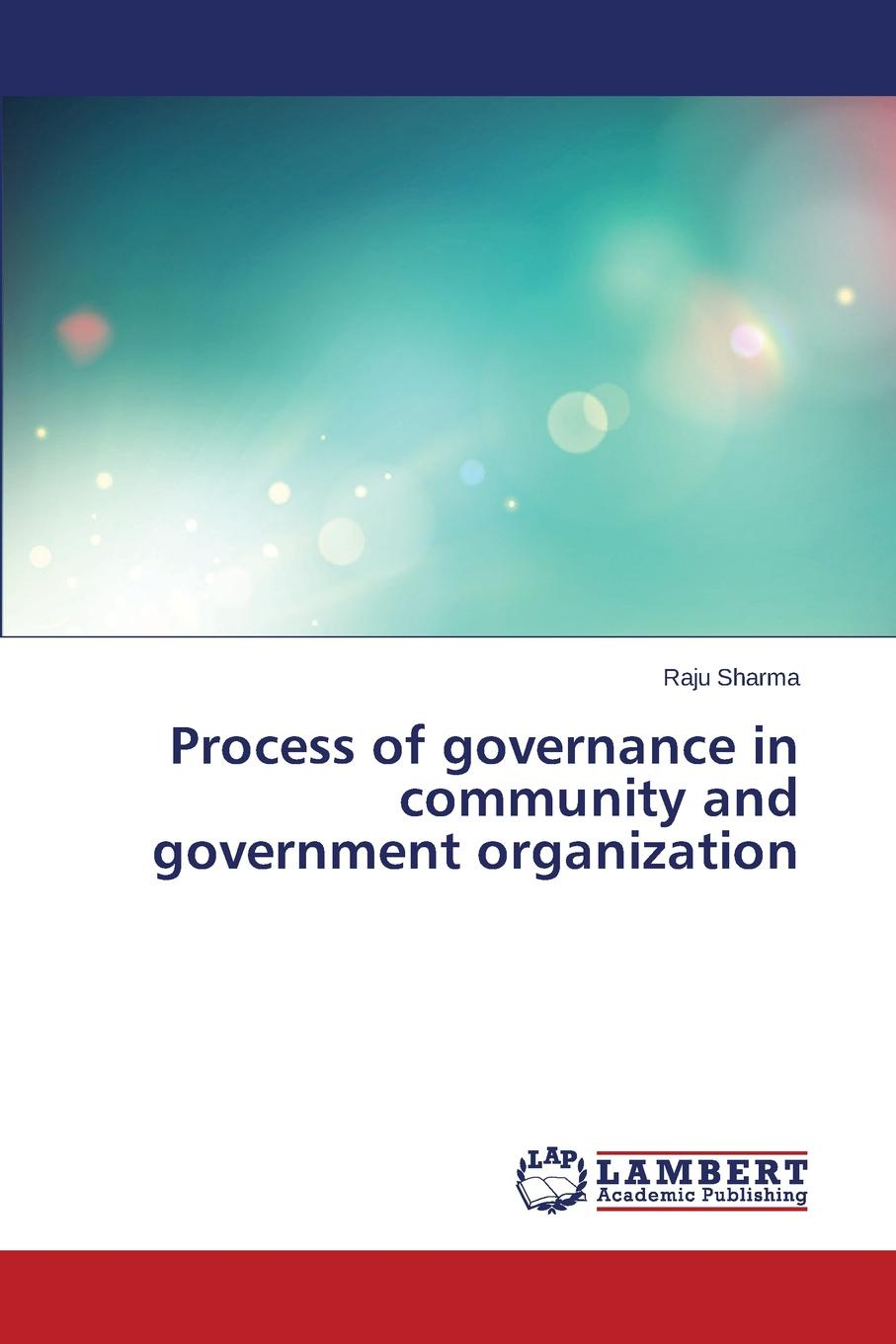 Sharma Raju Process of governance in community and government organization alok kumar and adam scott governance social and physical infrastructure and development