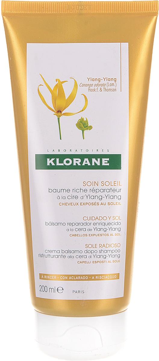 Питательный бальзам для волос Klorane, с воском иланг-иланг, 200 мл стоимость