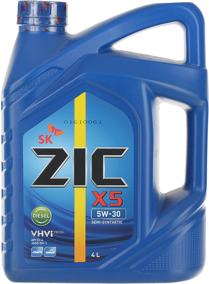 Моторное масло ZIC X5, синтетическое, 5W-30, 4 л