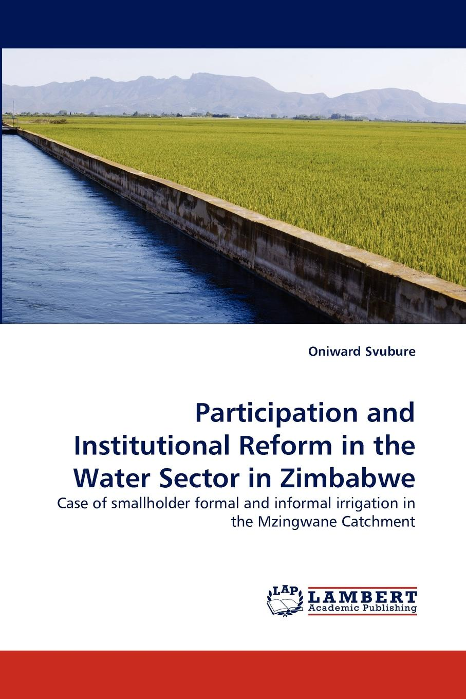Oniward Svubure Participation and Institutional Reform in the Water Sector in Zimbabwe недорго, оригинальная цена