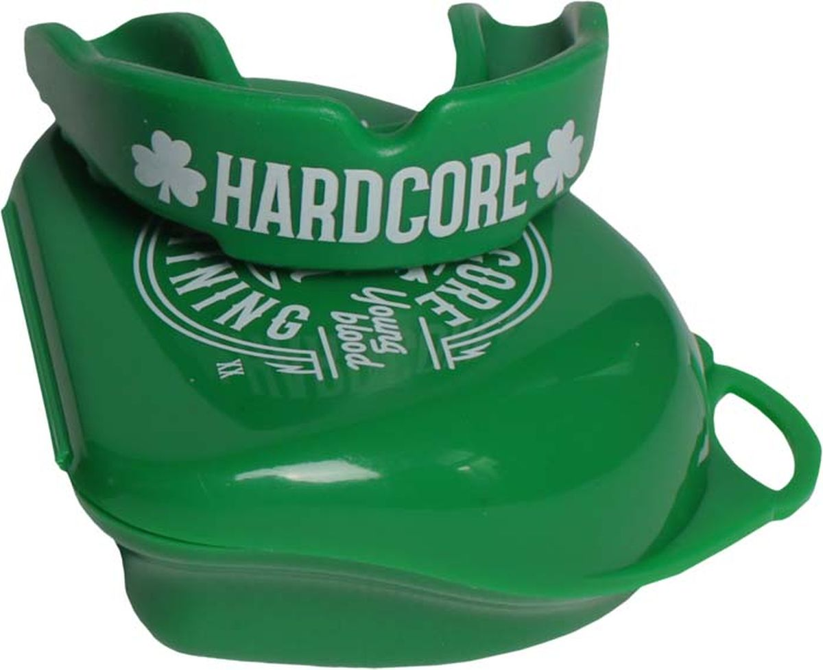 Боксерская капа Hardcore Training Irish Fight, hctprburl07, зеленый капа боксерская одночелюстная подростковая larsen tc 01262