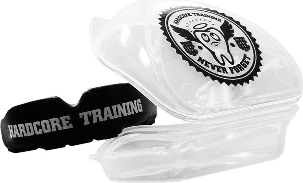 Боксерская капа Hardcore Training, hctprburl04, черный капа боксерская одночелюстная подростковая larsen tc 01262