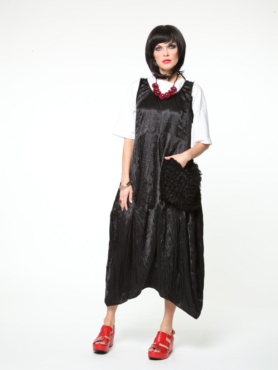 Платье Gotsher жакет без рукавов из искусственного меха