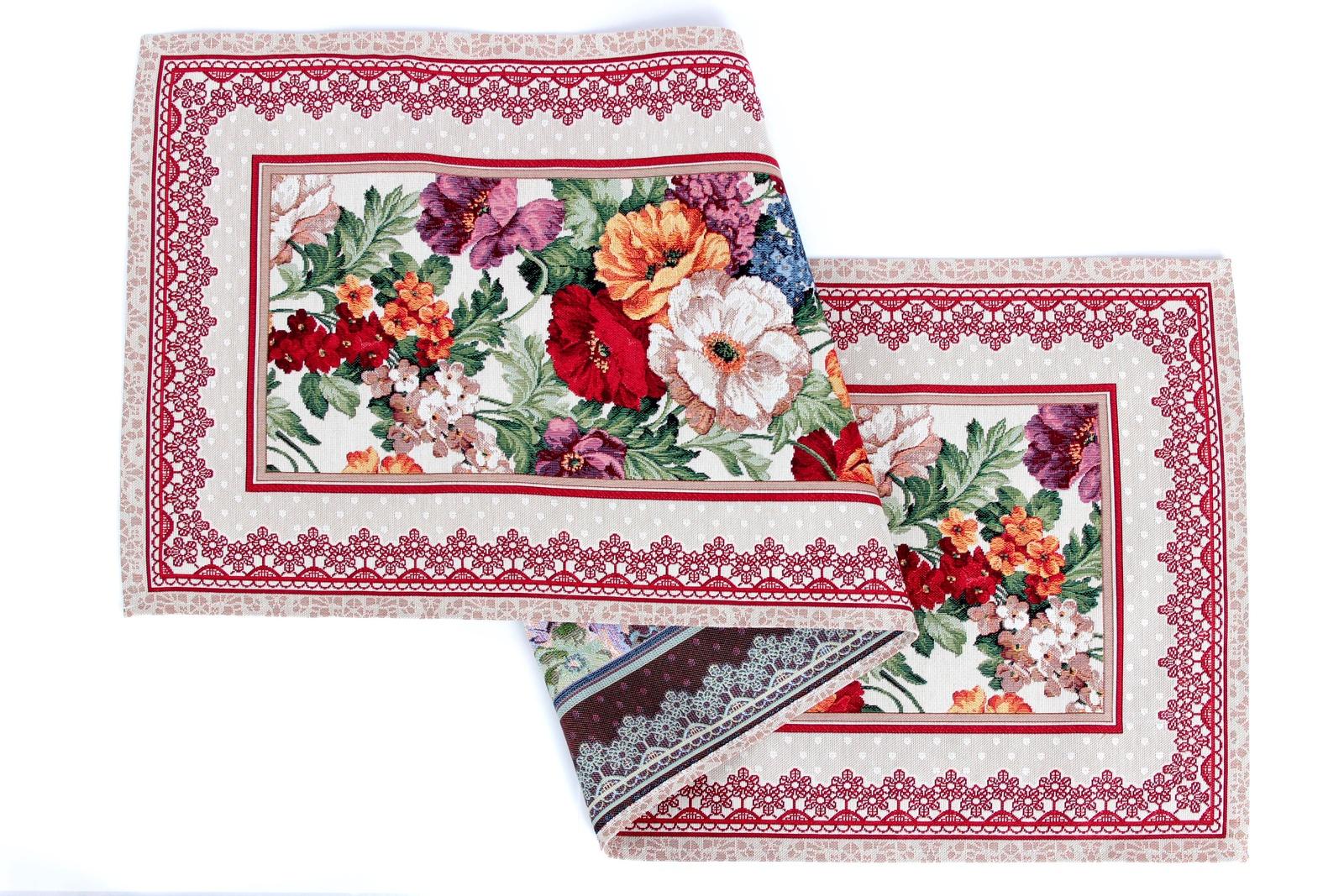 цена на Салфетка столовая Магазин гобеленов букет цветов 45*140 см, Гобелен