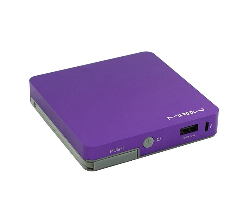 Внешний аккумулятор MIPOW Power Cube 8000 mAh, цвет фиолетовый