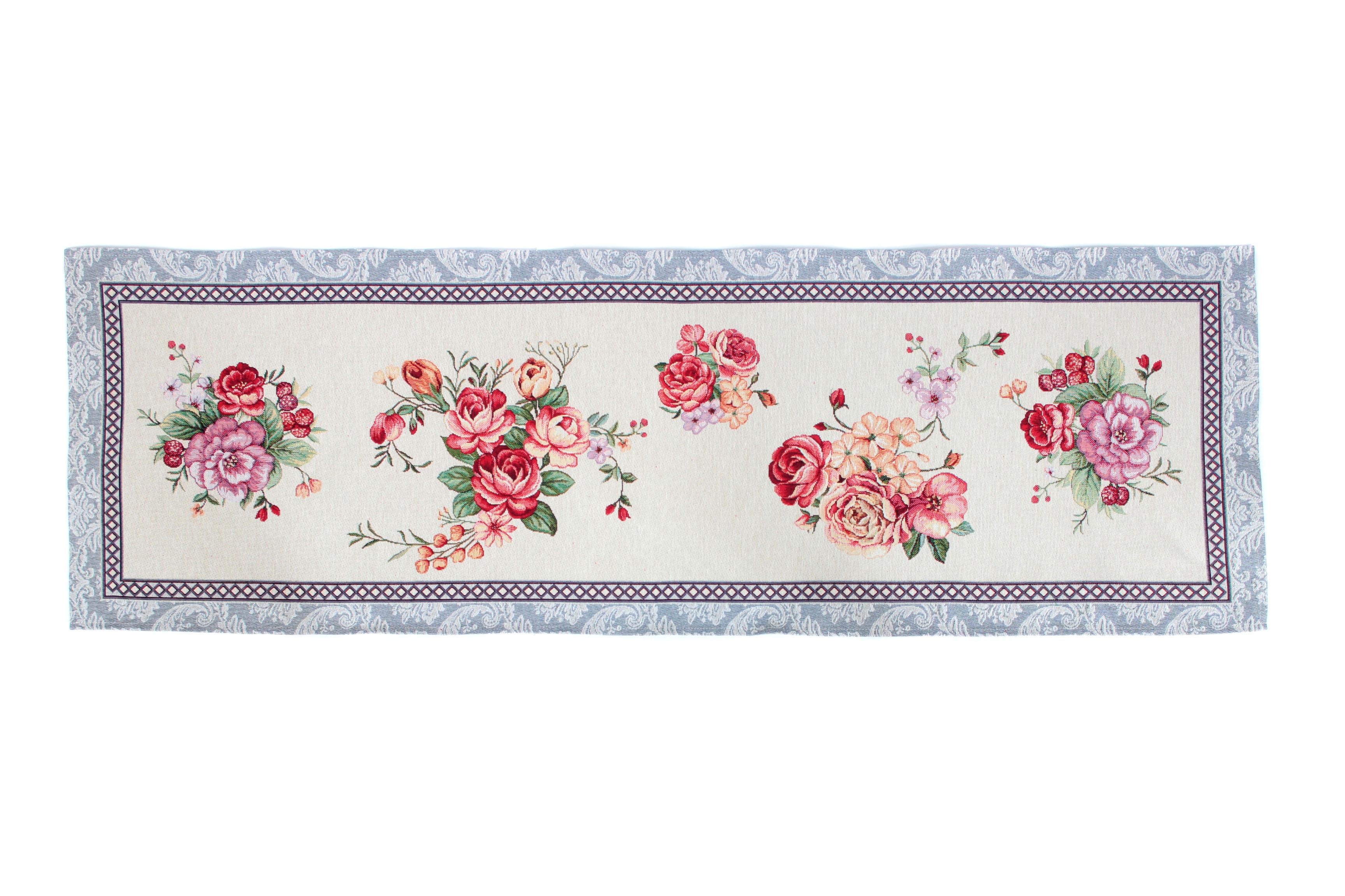 цена на Салфетка столовая Магазин гобеленов цветы 45*140 см, Гобелен