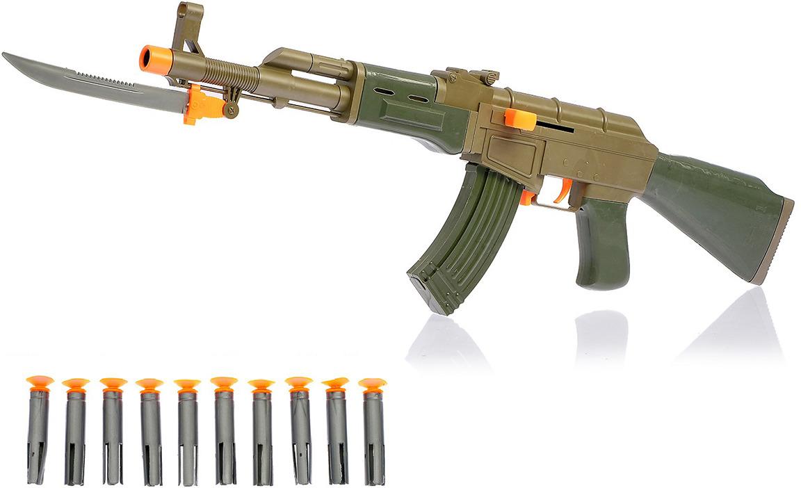 Игрушечное оружие Автомат Русский, с мишенью, 1692204 игрушечное оружие pixel crew автомат м16 8бит синий пиксельный 62 см