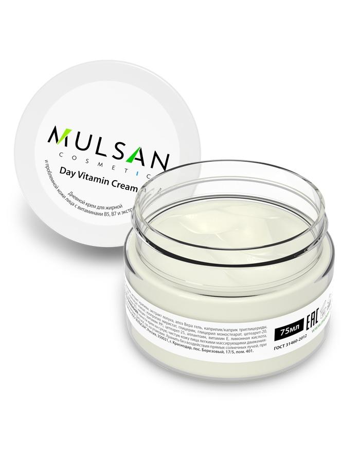 Дневной крем для жирной и проблемной кожи лица Mulsan Mulsan