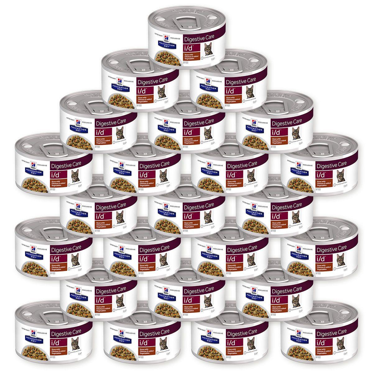 Корм влажный Hill's Prescription Diet i/d Digestive Care Рагу с курицей и овощами для кошек для поддержания здоровья ЖКТ, 24 шт по 82 г (5742)
