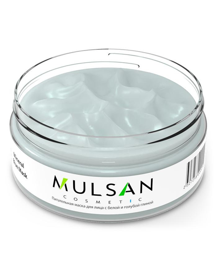 Маска косметическая Mulsan для лица питательная с белой и голубой глиной маска пленка с черной глиной