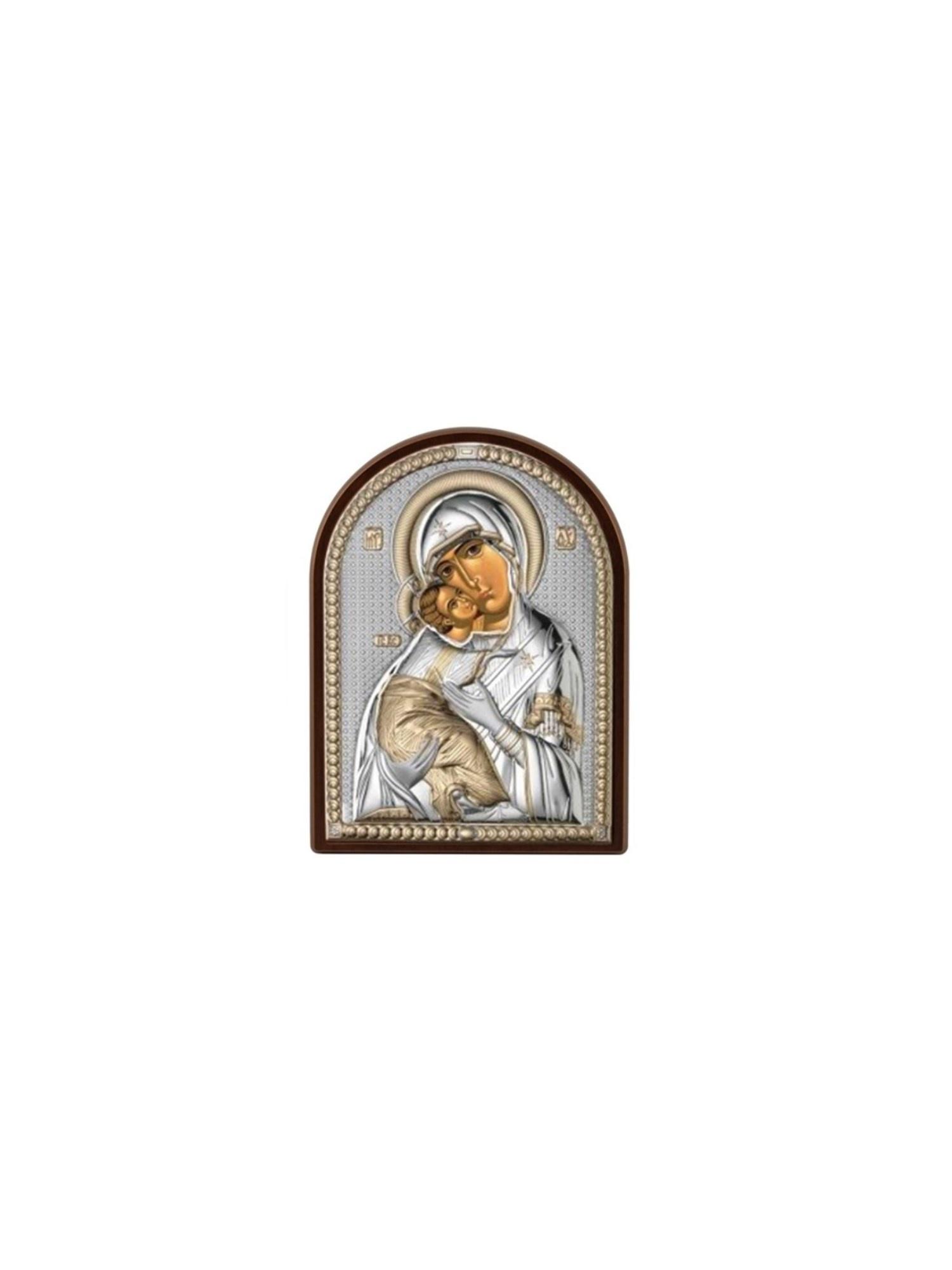 Фото - Икона АргентА Владимирская Божья Матерь (4,5*6,5), серебристый иконы