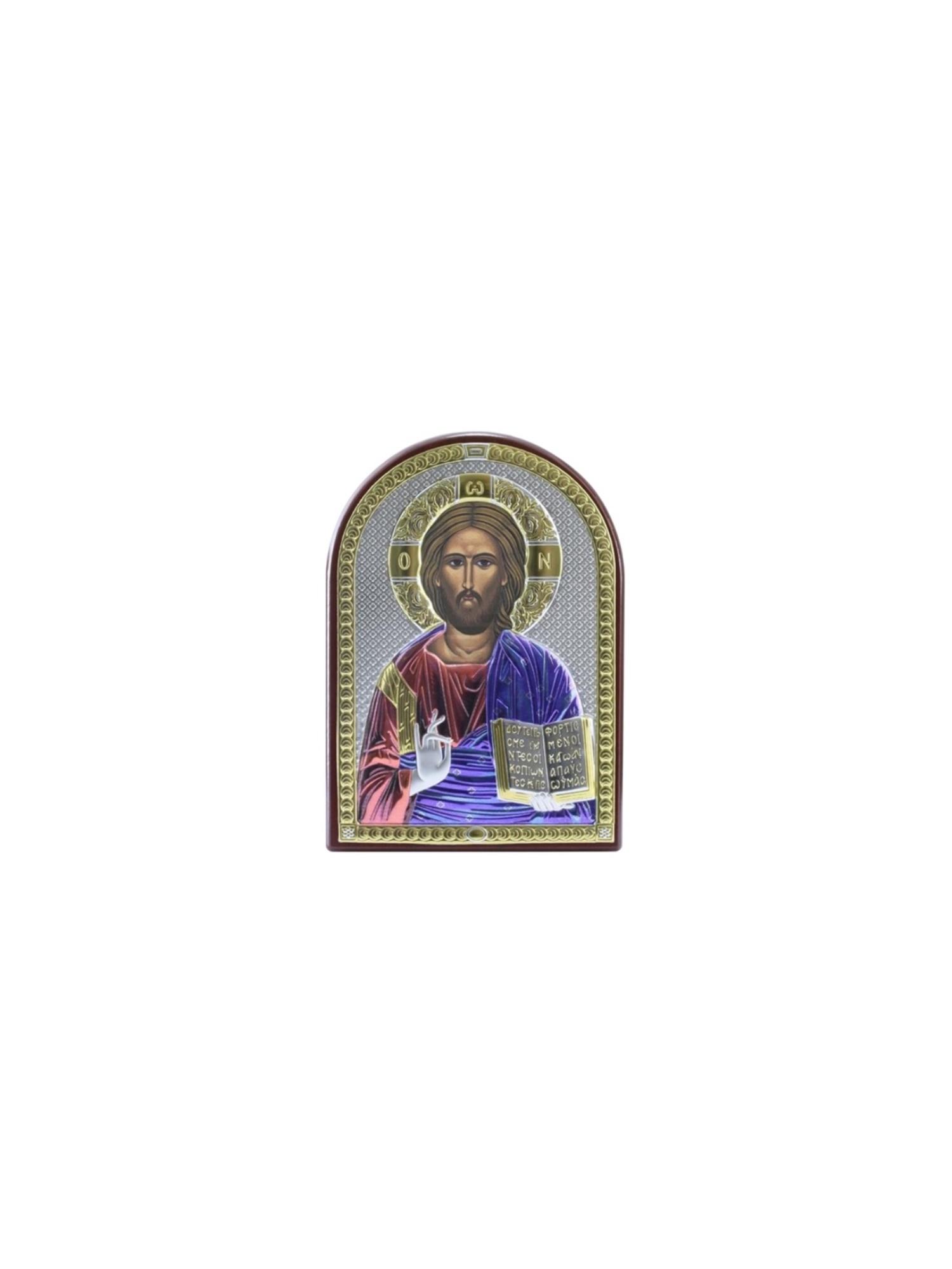 Икона АргентА Вседержитель (4,5*6,5), серебристый иконы