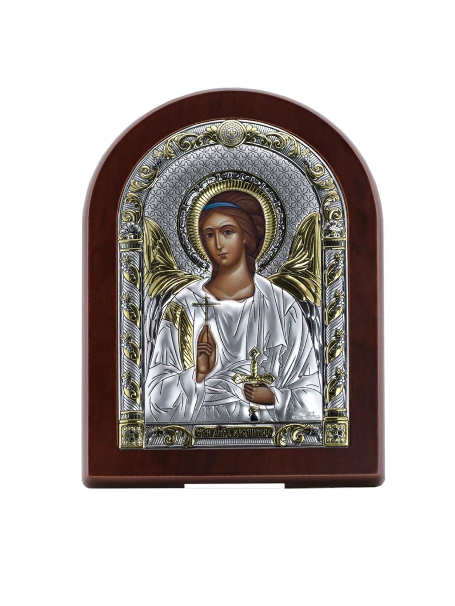 Икона АргентА Ангела Хранителя (12*16), серебристый