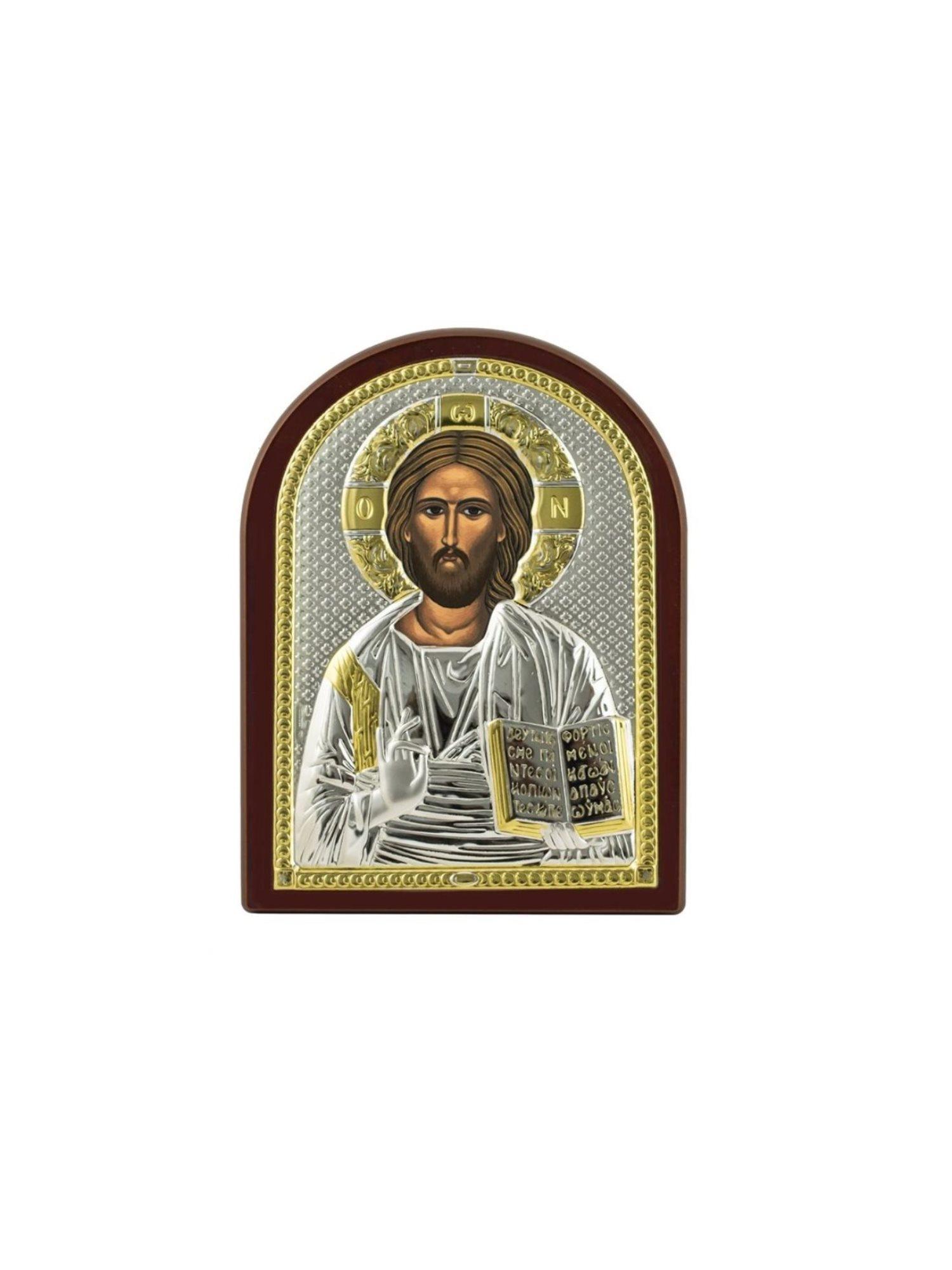 Икона АргентА Вседержитель 6,0 х 8,5, серебристый
