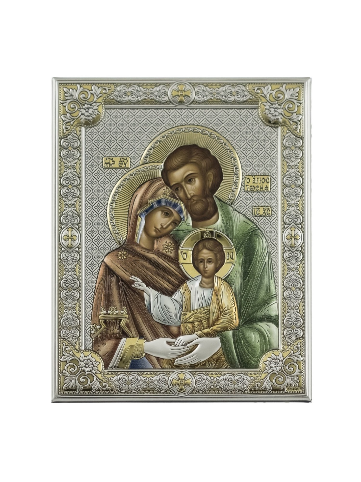 Фото - Икона АргентА Святое семейство (12*16), серебристый иконы